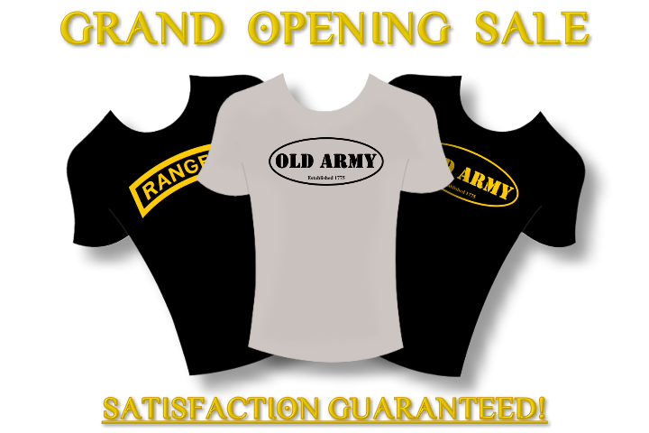 Old-Army-Ranger-T-Shirt-Store-Grand-Opening-Post-Banner